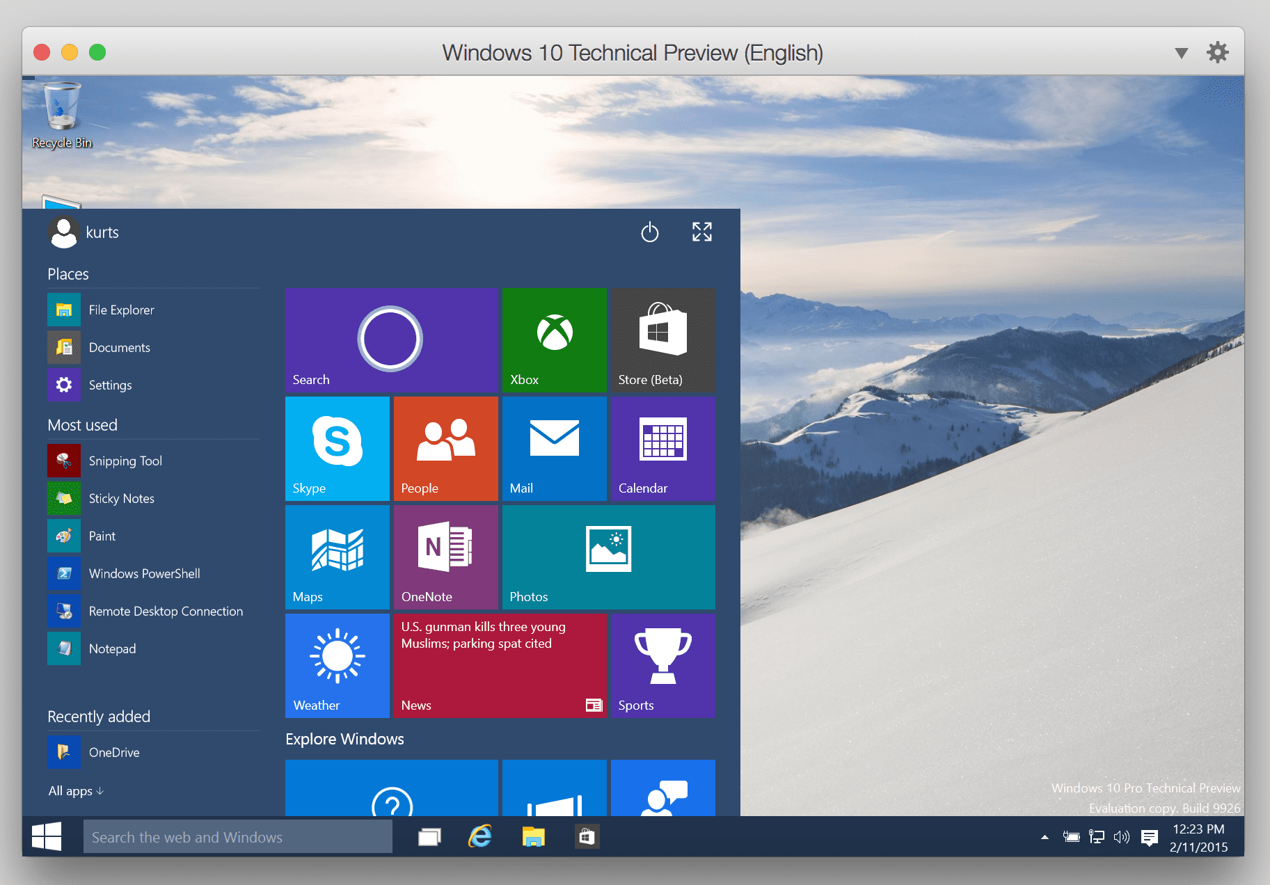 Installing the Windows 10 Tech Preview in Parallels Desktop