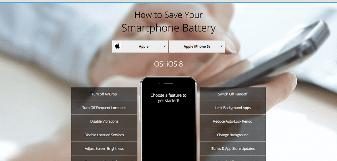 How to Save Your Smartphone Battery (Interactive Infographic)
