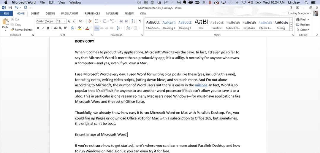 How To Run Microsoft Word On Mac
