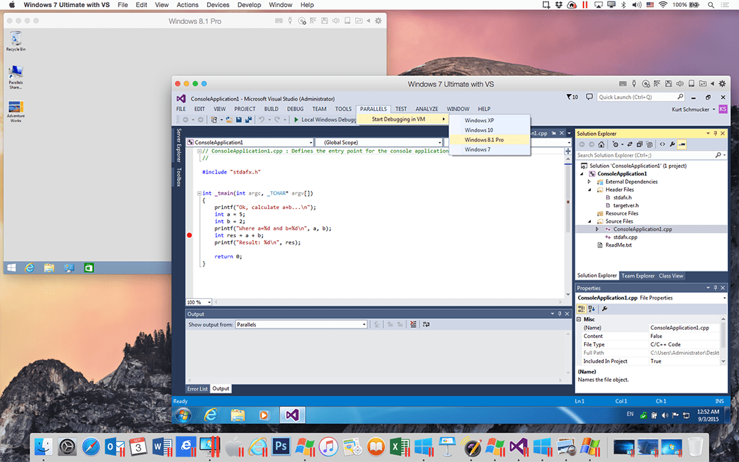 Visual Studio Dev Essentials Includes Parallels Desktop