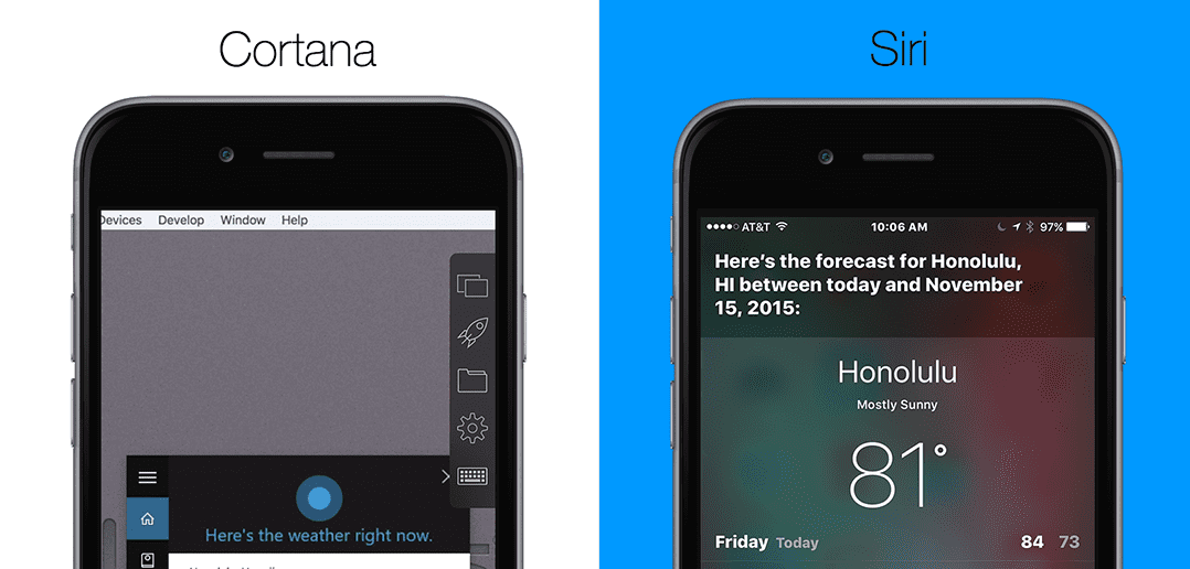 Siri vs. Cortana: Shoot-Out on the iPhone