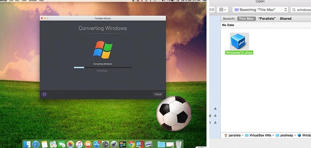 Convert VirtualBox to Parallels Desktop