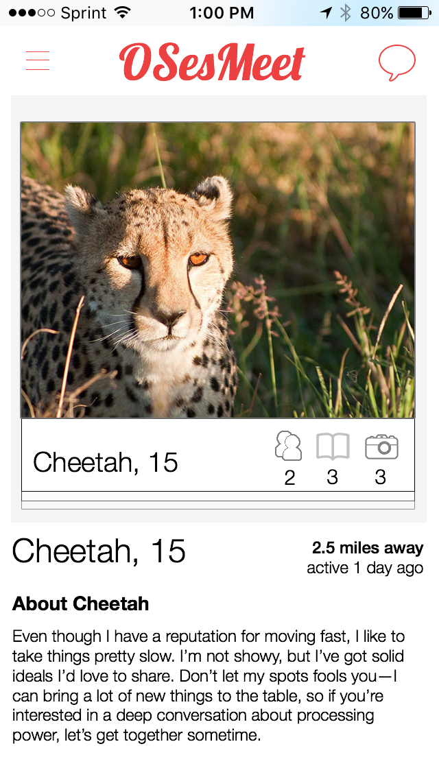 If Mac OSes Had Dating Profiles Cheetah