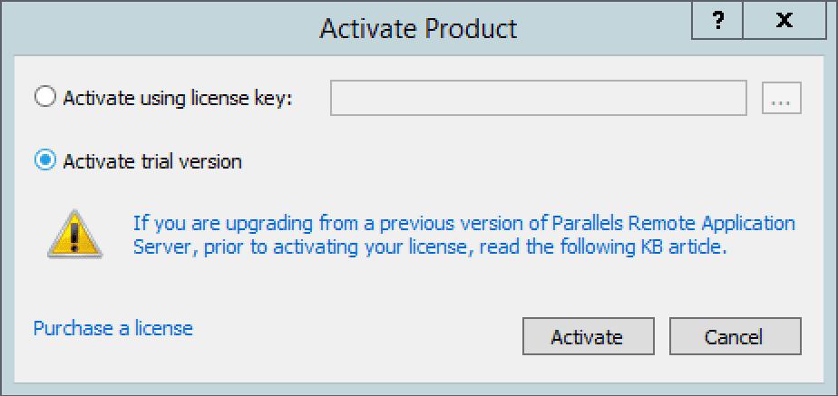 activate trial version