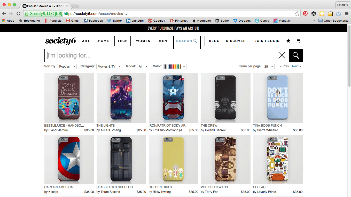iPhone accessories at Society6