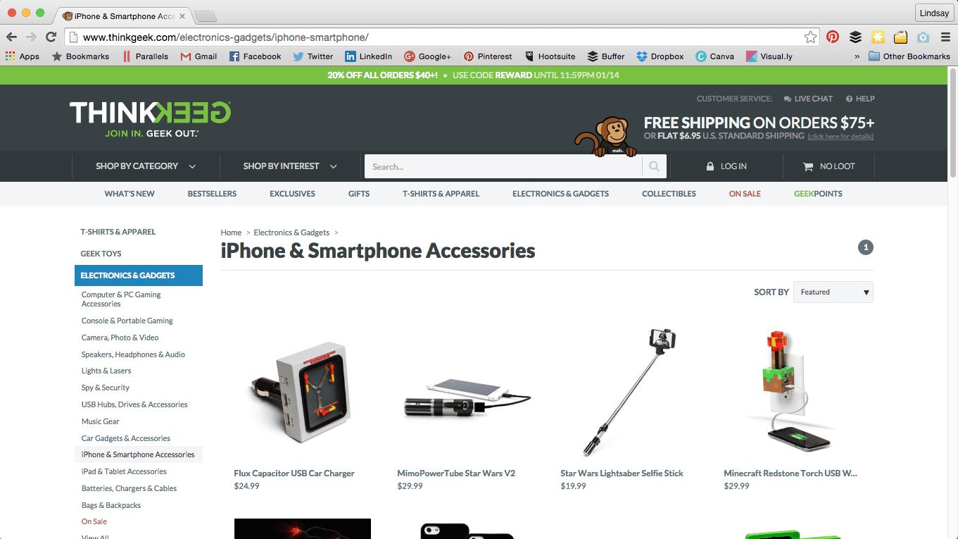 iPhone accessories ThinkGeek