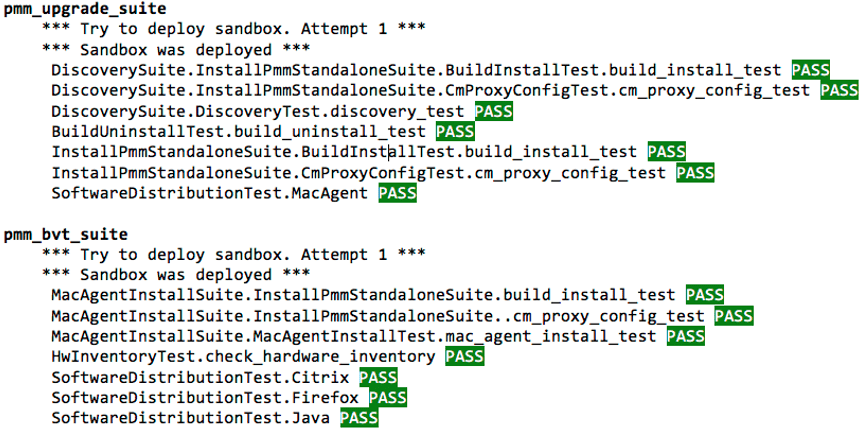Mac Management SCCM - PMM Automated Testing Output