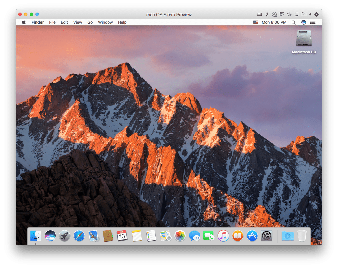 macOS Sierra VM - Figure 2_macOS Sierra in a VM