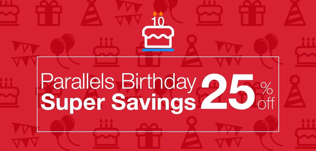 Parallels Desktop for Mac Birthday Sale: 25% Off!