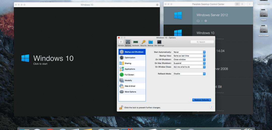 Restore Default Settings in Parallels Desktop for Mac
