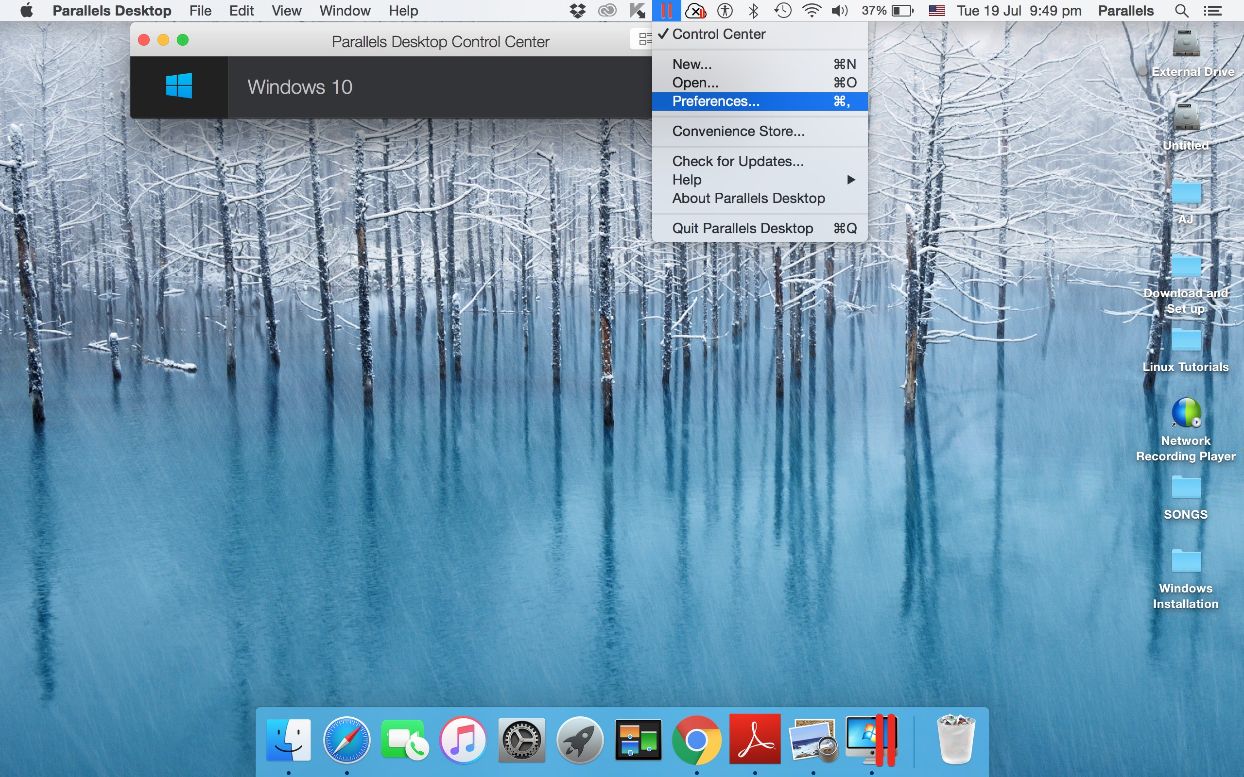 Keyboard Shortcuts in Parallels Desktop