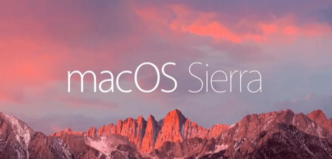 macOS Sierra Service Notification