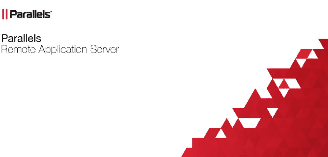 installing parallels Remote Application Server