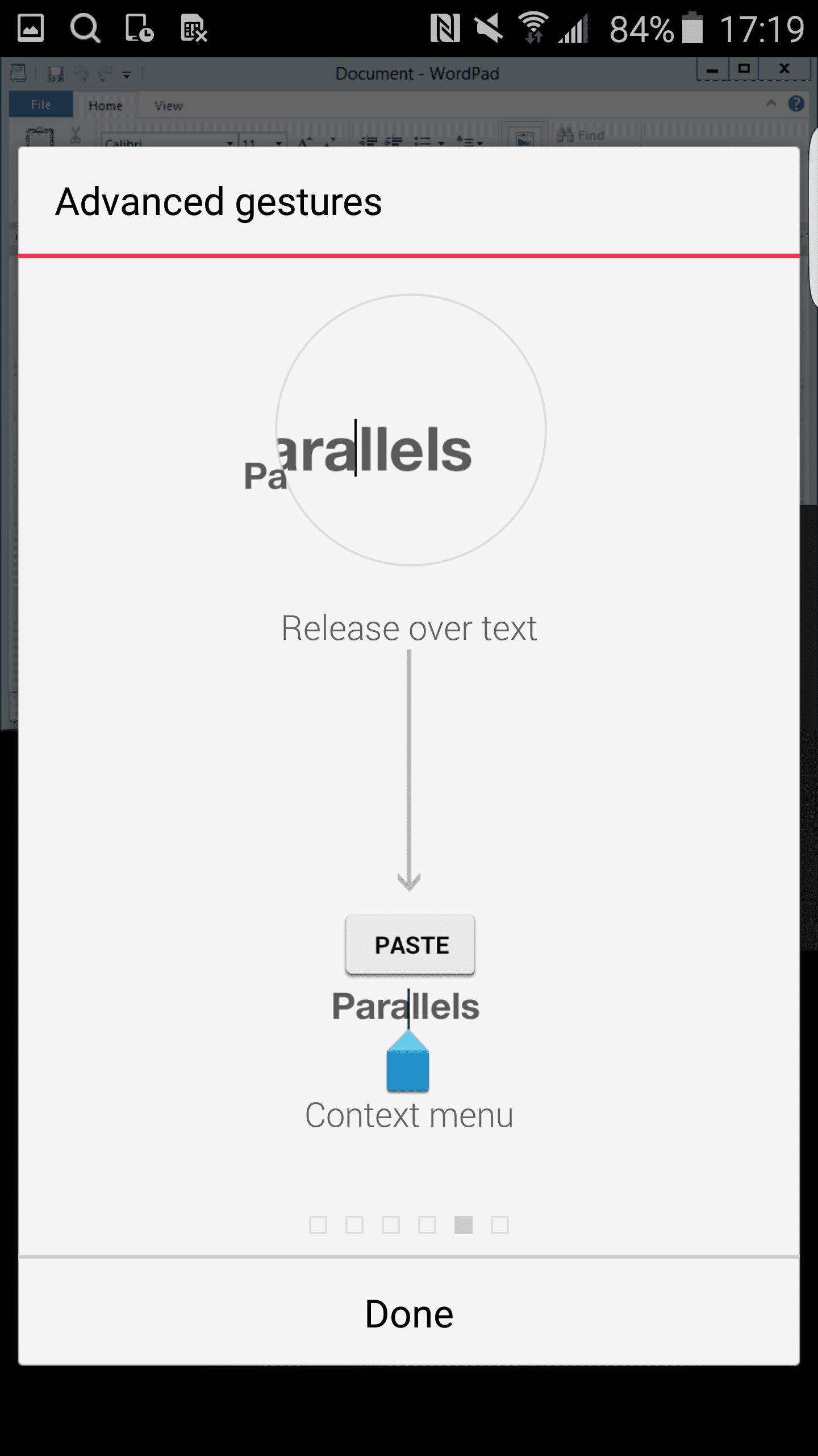 parallels android client