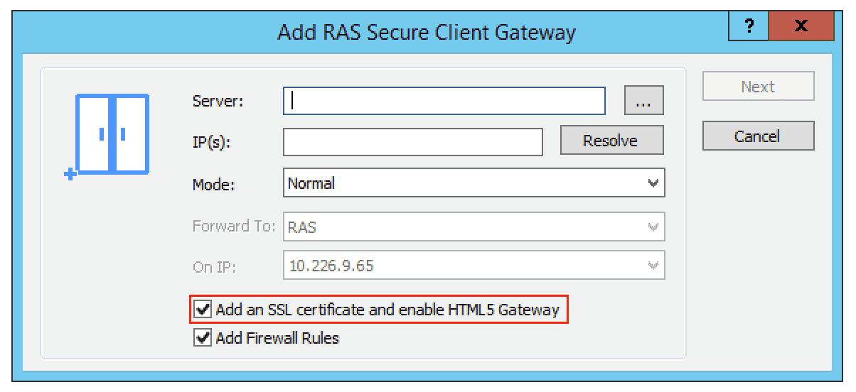 Parallels HTML5 Client