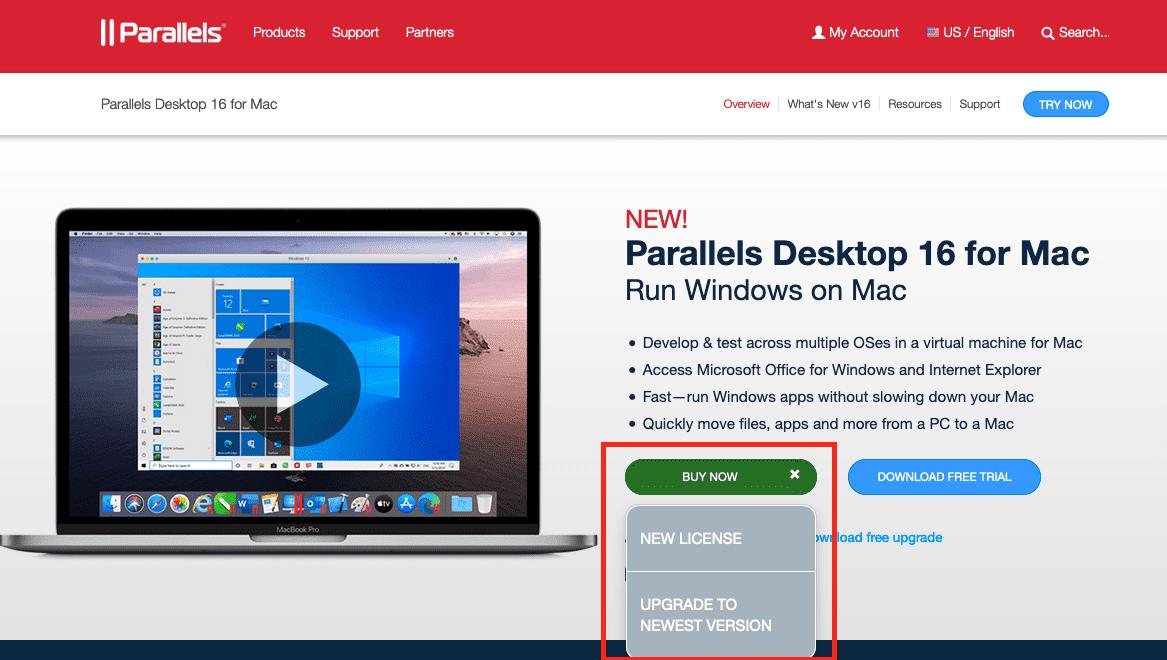 Parallels mac key