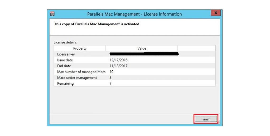 Activating Parallels Mac Management for Microsoft SCCM