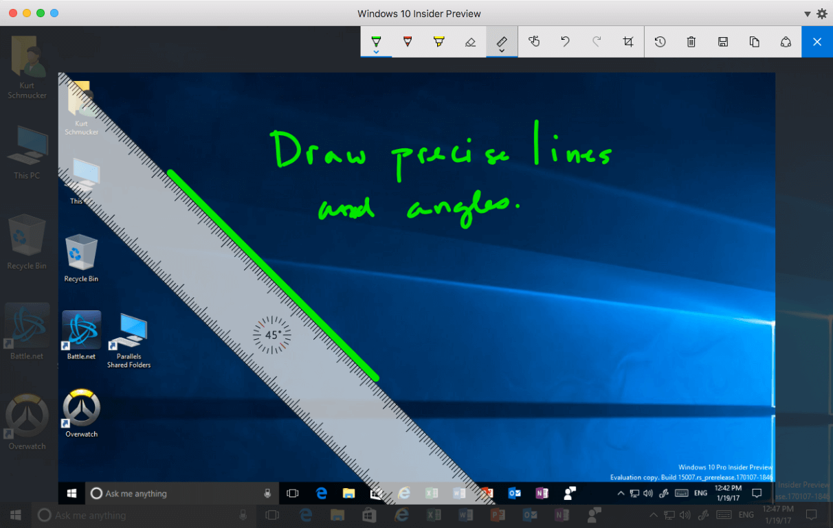 How To Use Microsoft Ink In Windows 10 On A Mac Parallels Blog