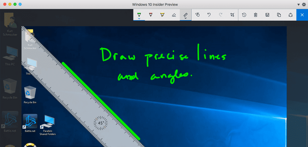 How to Use Microsoft Ink in Windows 10 on a Mac