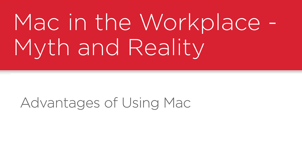 #2 Mac Usage in the Workplace