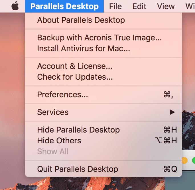 Upgrade Parallels