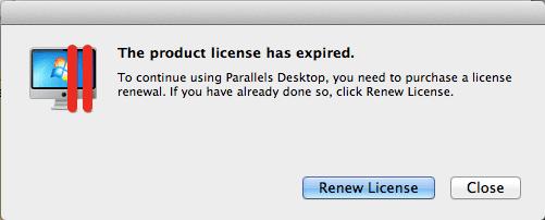 Parallels Desktop License Expiration