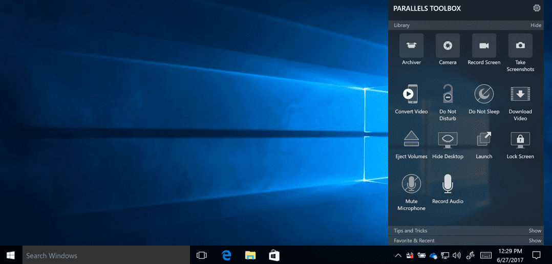 Parallels Toolbox for Windows – Now available
