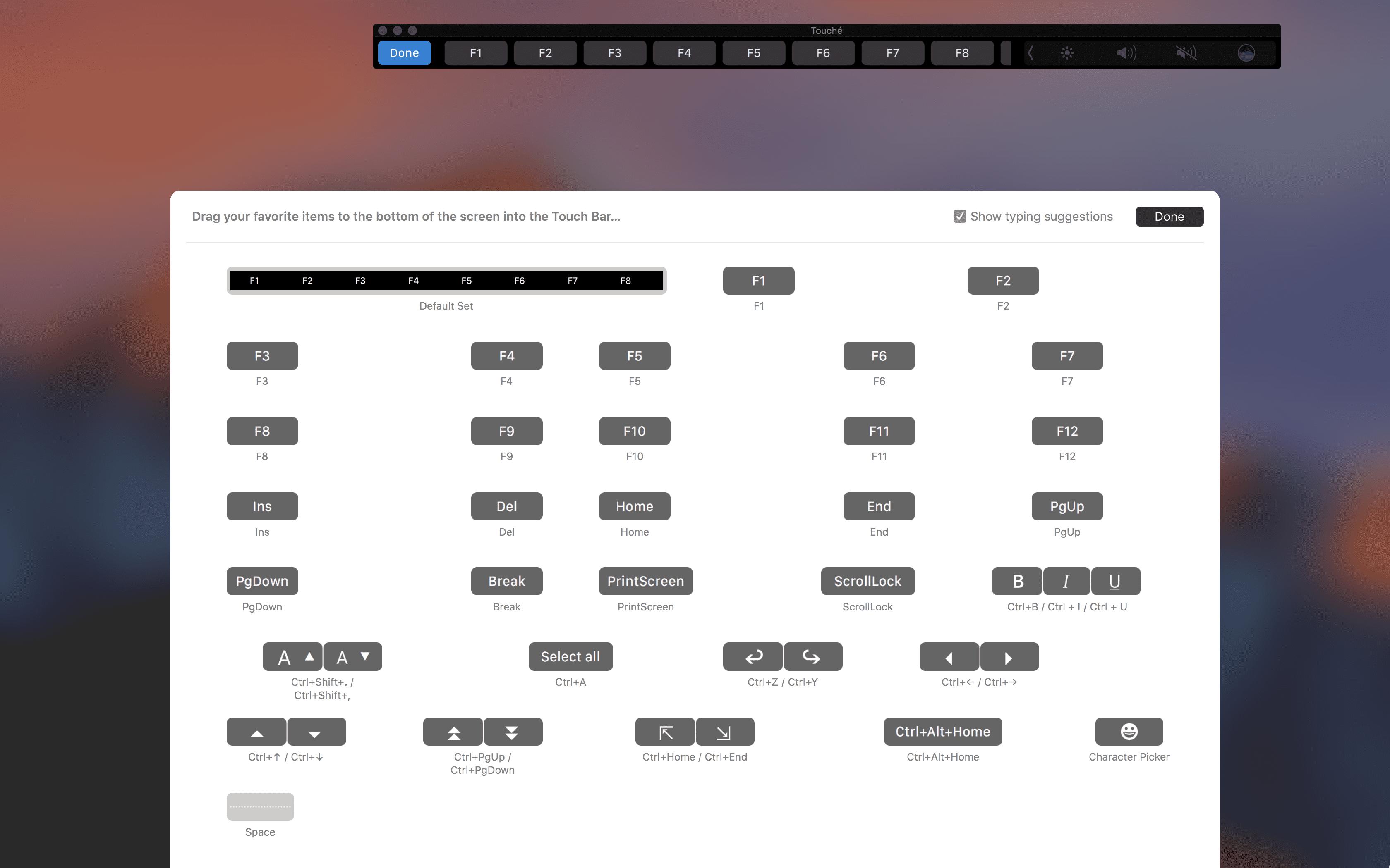 define touch bar