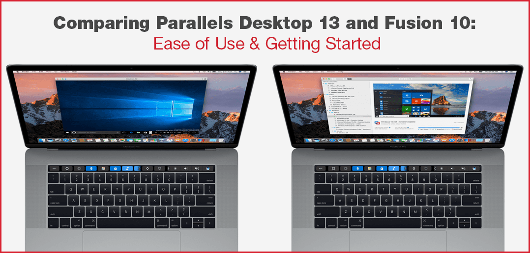 Comparing Parallels Desktop 13 and VMware Fusion 10: Ease of Use