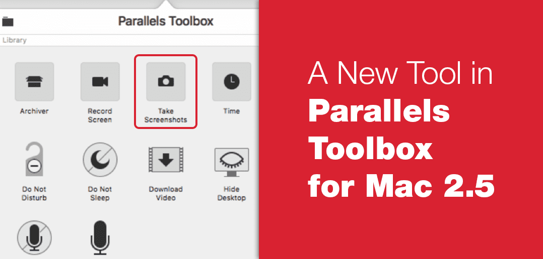 Screenshot Page: A New Tool in Parallels Toolbox for Mac 2.5