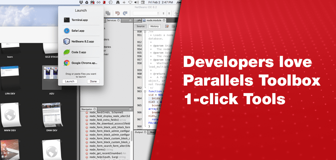 Developers Love Parallels Toolbox One-Click Tools
