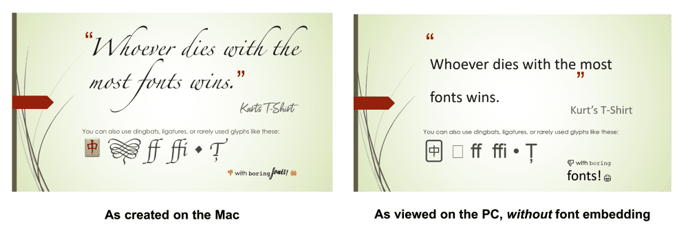 How to Use Mac Fonts in PowerPoint Presentations