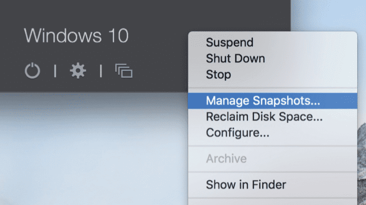 Save Your Work with Snapshots in Parallels Desktop