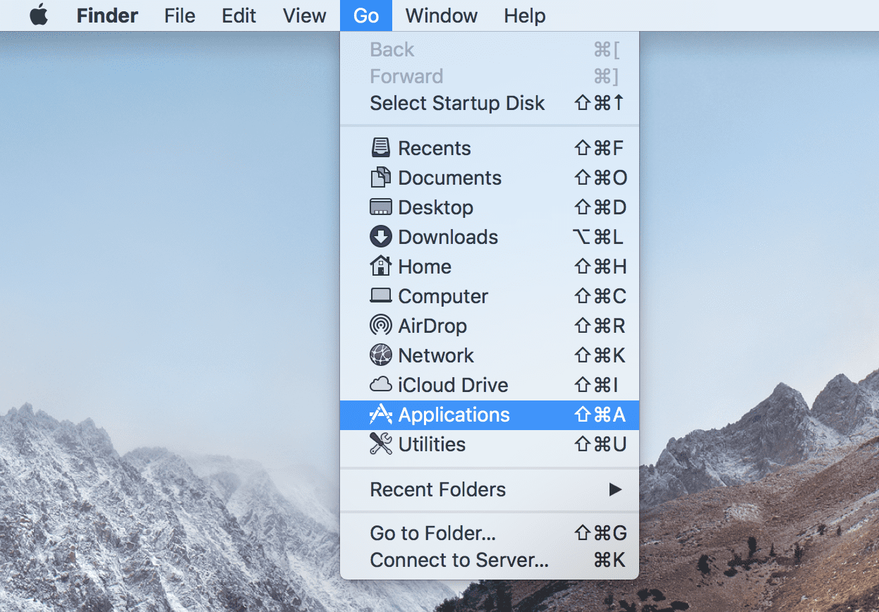 Open Applications in the MacOS