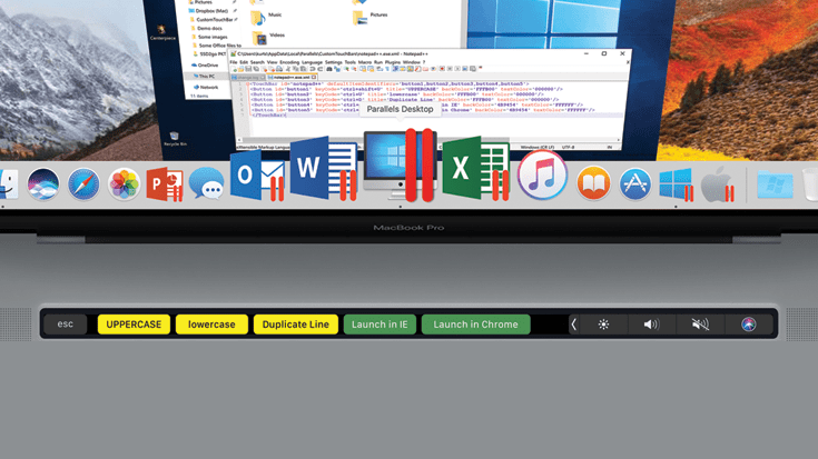 How to Use the Mac Touch Bar with Windows Applications in Parallels Desktop 14