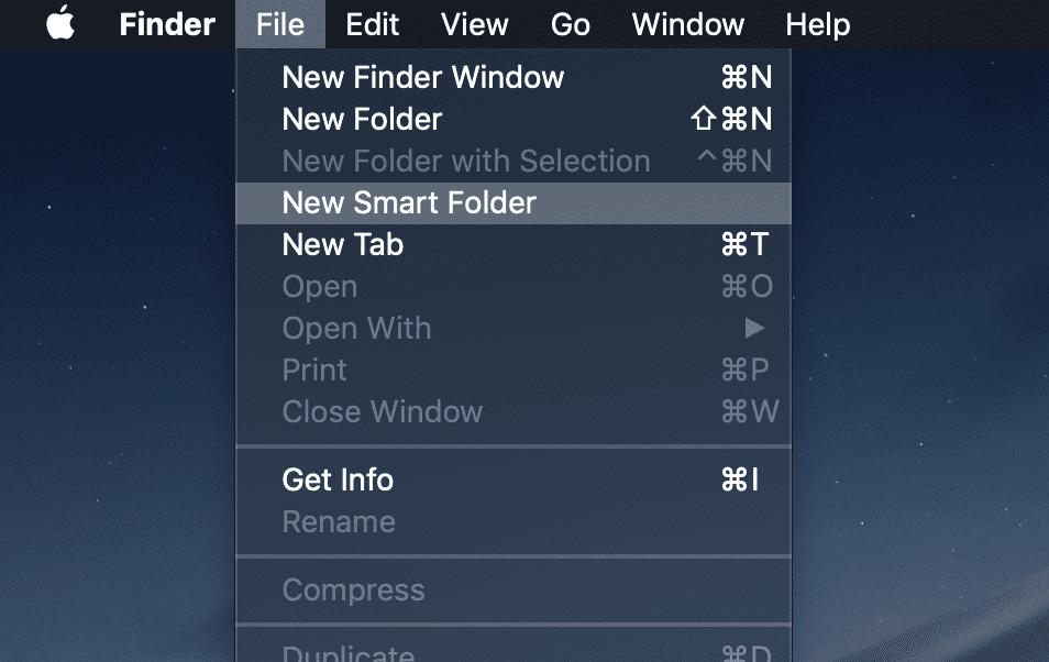 smart folder macos