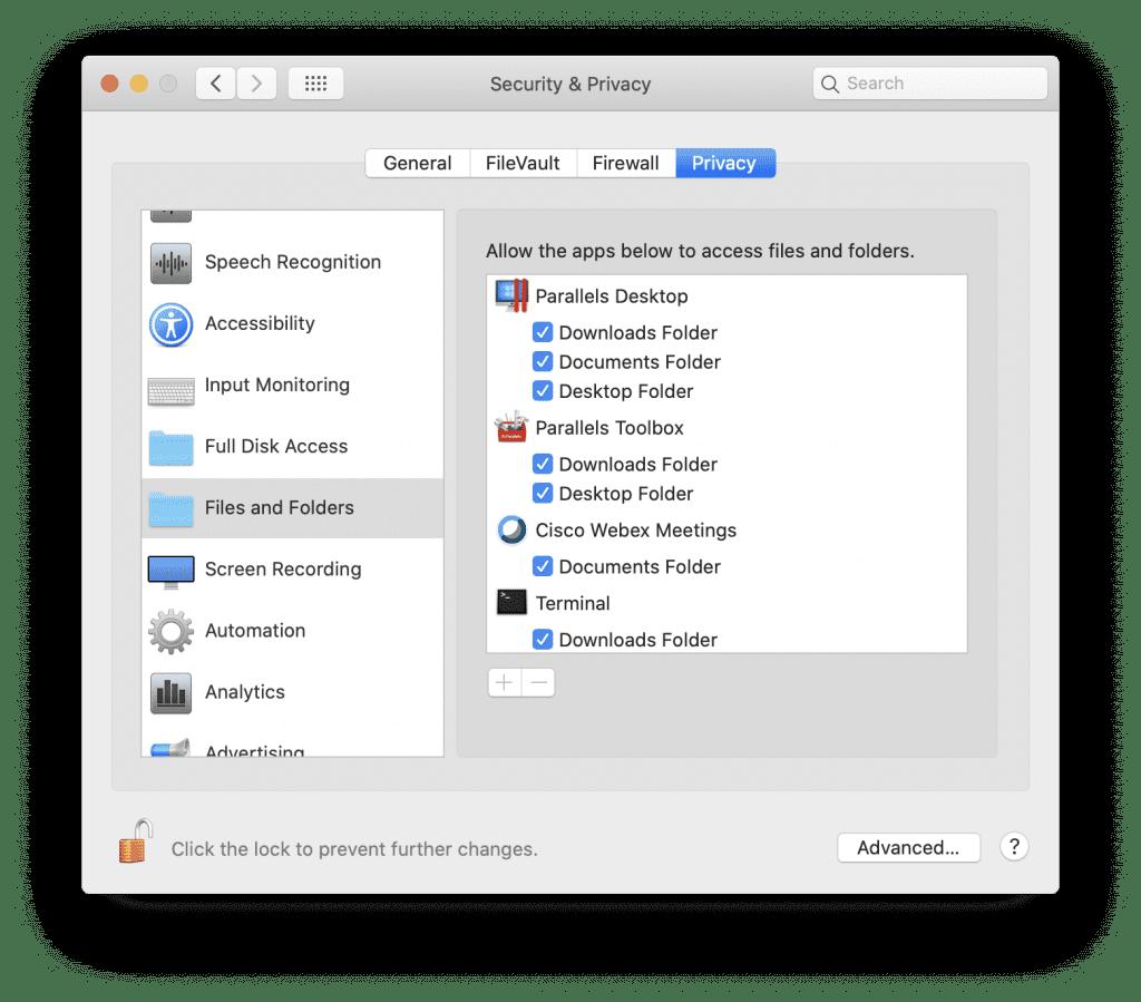 Parallels Desktop Access Files