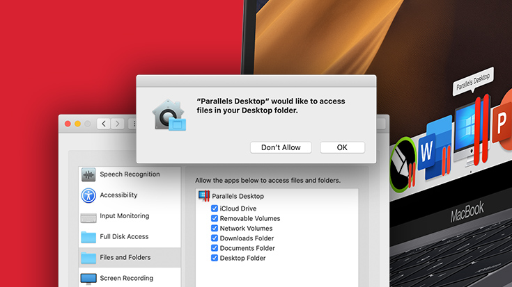 Why Does Parallels Desktop Need to Access Desktop, Documents, Downloads or iCloud?