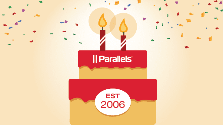 Celebrate the birthday of Parallels Desktop