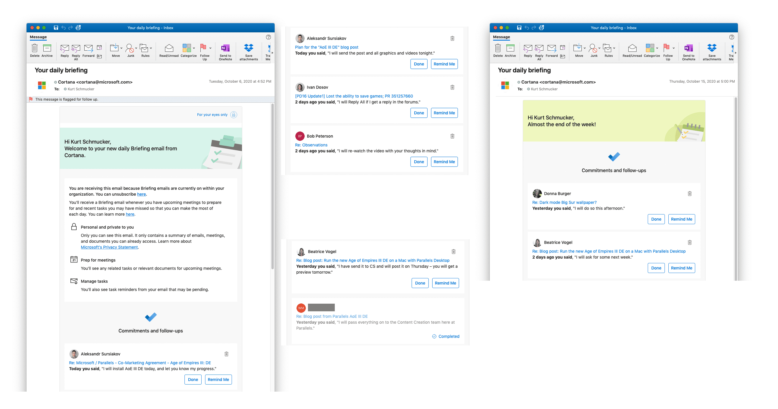 Cortana on Mac