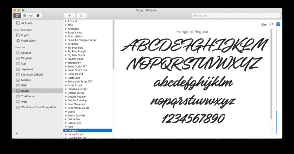 Moving fonts