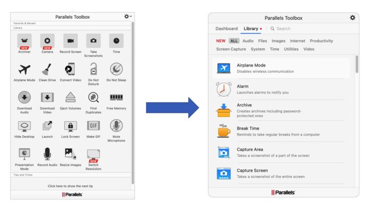 Introducing Parallels Toolbox 4.5 for Mac and Windows