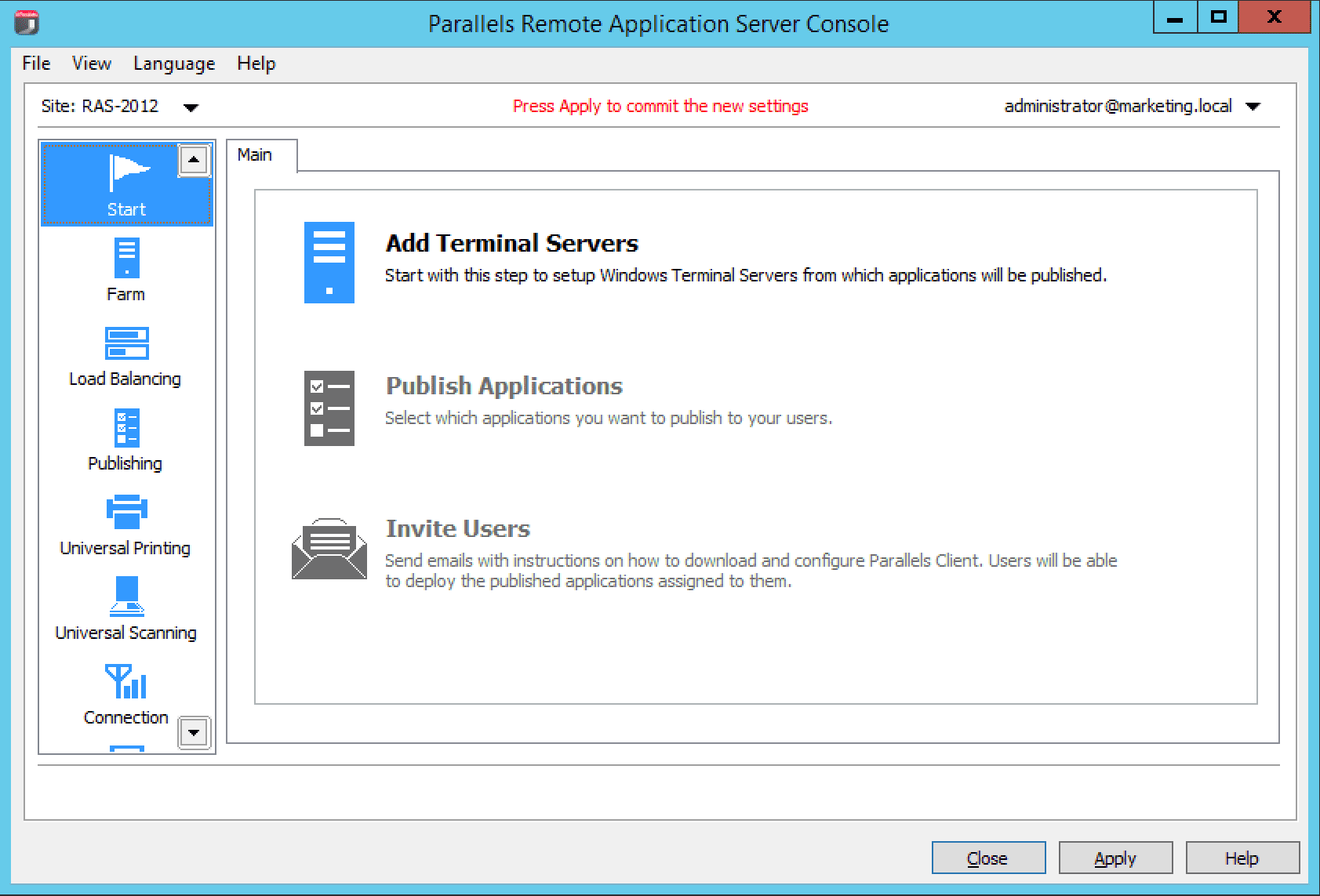 Remote Application Server Configure Parallels Start Help Navigate To The Click Add Terminal Servers A