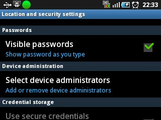 Android Device Select Device Administrators