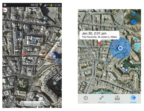 Device Location View
