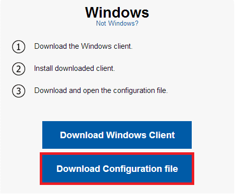 Download configuration file