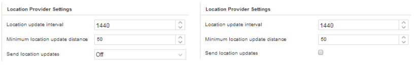 2X MDM Location Provider Settings