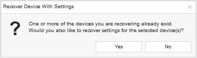Recover Deleted Device Settings Tip