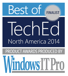 Best of teched 2014 north america awards 2x applicationserver xg ASXG