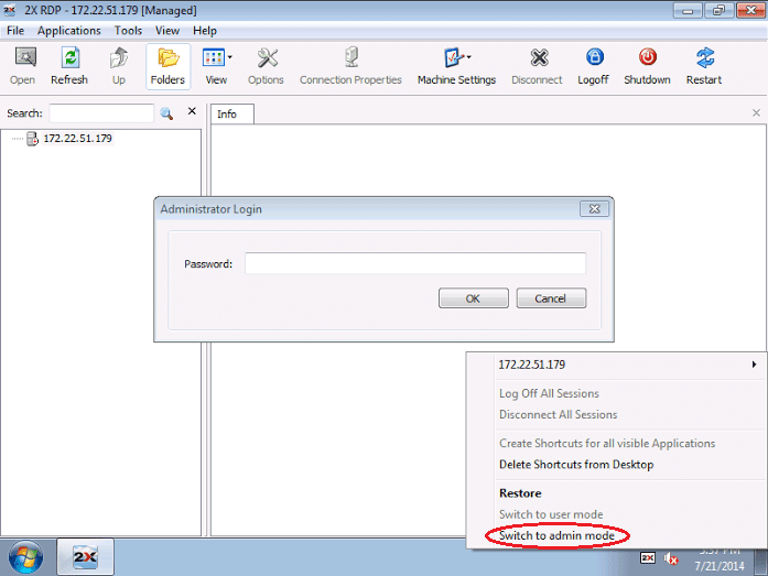 Local Applications with the 2X RDP Client Desktop replacement